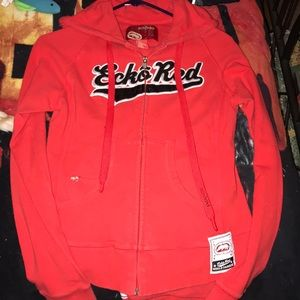 Eckored small hooded zippered jacket with sweats